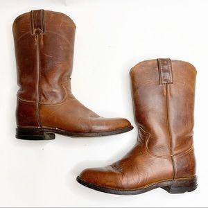 Justin Jackson Roper Brown Cowboy Boots women 5